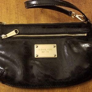 Black Michael Kors clutch wristlet purse